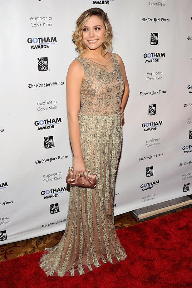 At one of her first big events, the 2011 Gotham Independent Film Awards, Elizabeth Olsen looked magnificent in this angelic Valentino gown.