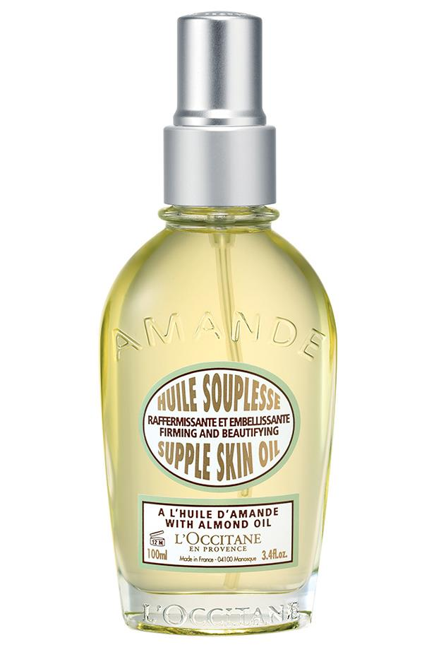 "**Best for travel**<br> *Almond Supple Skin Oil, $68 at [L'Occitane](https://au.loccitane.com/almond-supple-skin-body-oil,23,1,1236,1257269.htm|target=""_blank""
