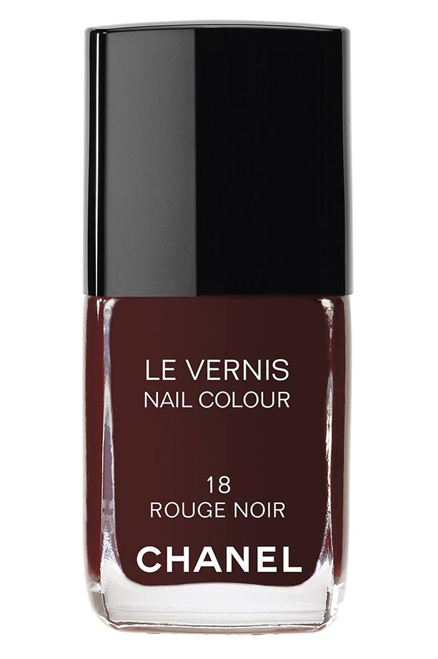 Le Vernis in Rouge Noir, $39, Chanel, (02) 990 2944