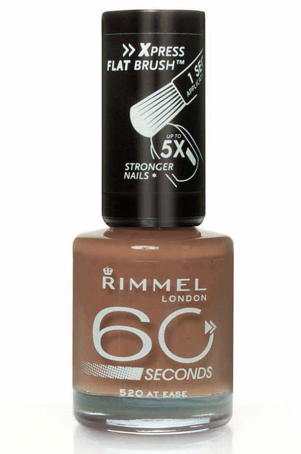 60 Second Nail Polish in At Ease, $7.95, Rimmel London, 1800 812 663