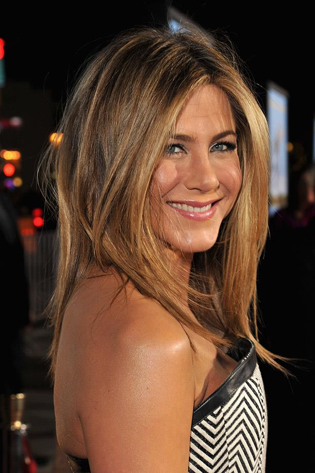 Jennifer Aniston's darker hue in 2012