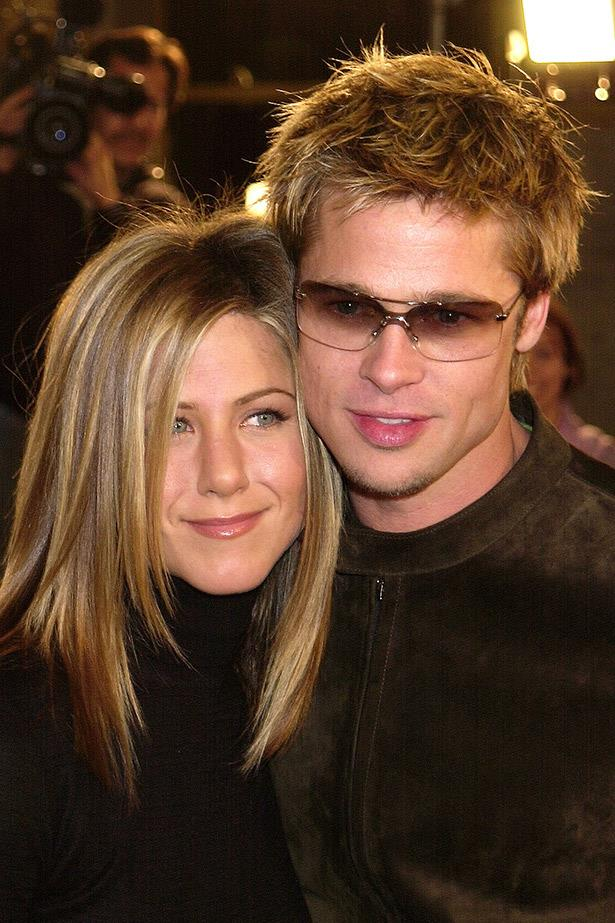 Couples who tint together.... Jennifer Aniston and Brad Pitt in 2001