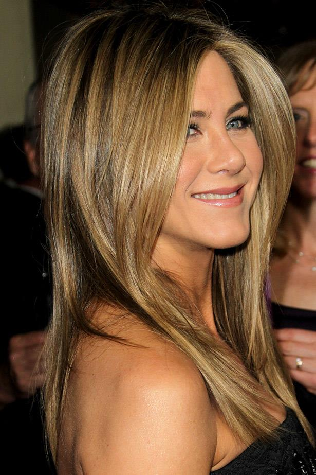 High-shine is the key to stealing Jennifer Aniston's look. Seen here in 2012