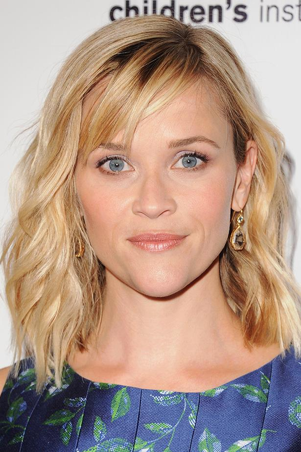 Reese Witherspoon shows off a shorter 'do and a wispy fringe at a Los Angeles event.