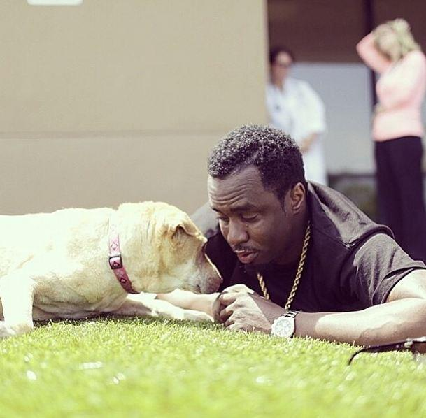 """""""Will you be missin' me?"""" P. Diddy chills with his homie."""