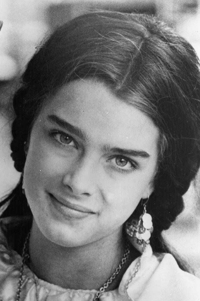 Brooke Shields rocked a strong set well before it was the latest trend.