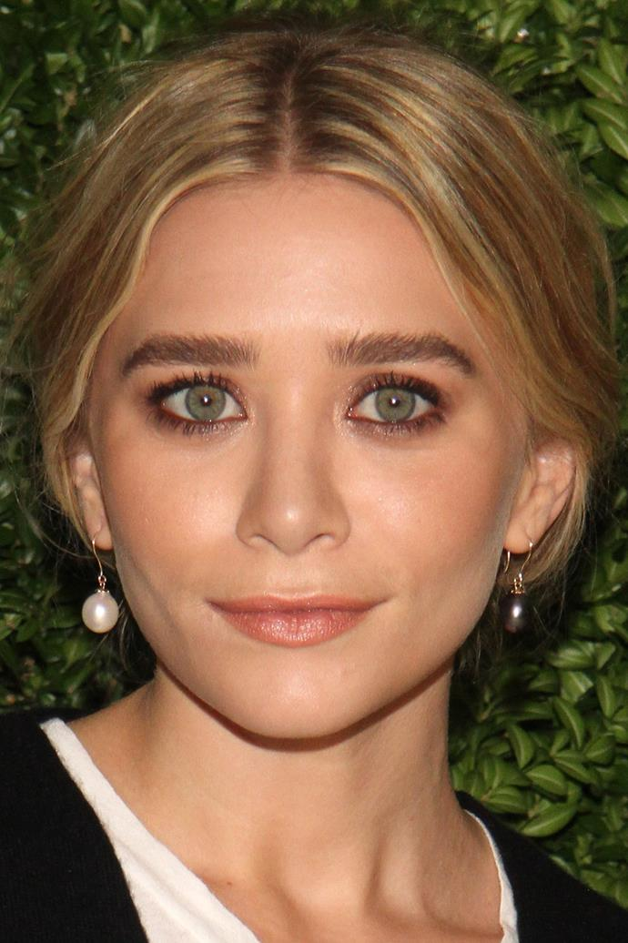 Brushed-up brows flatter Ashley Olsen at an event in New York City.