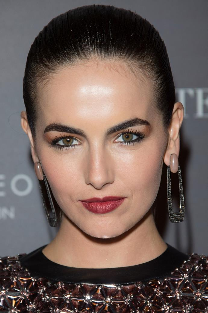 An advocate of the defined arch since way back when, Camilla Belle continues to show off the ultimate brow.