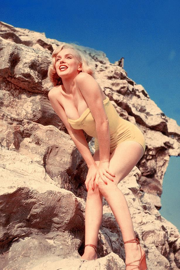 Marilyn Monroe posing in a bikini in 1960.