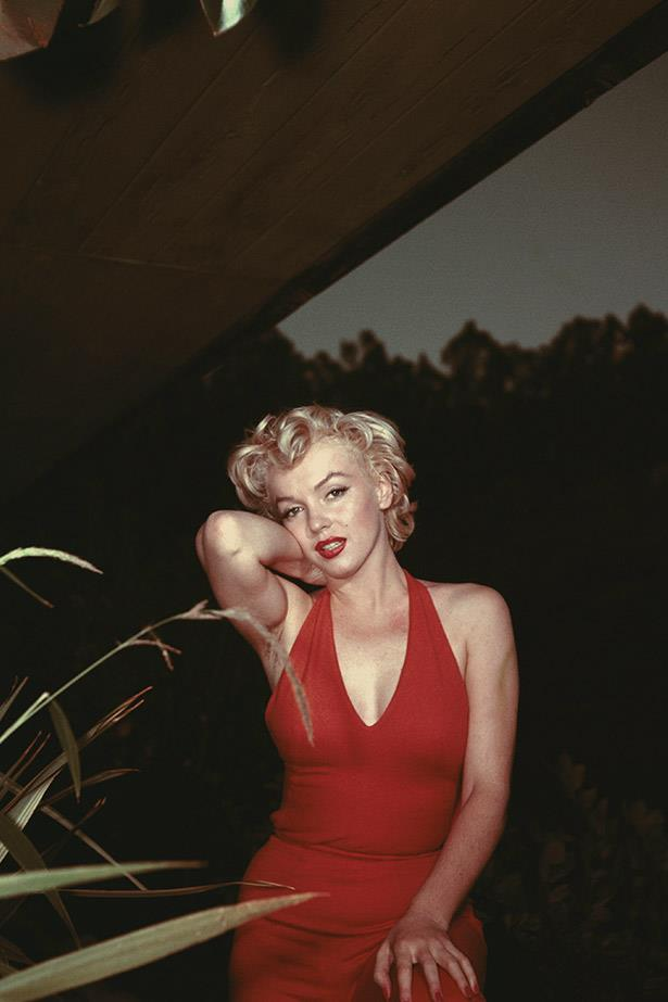 A dark and sultry image of Marilyn Monroe living up to her sex-symbol status, 1954.