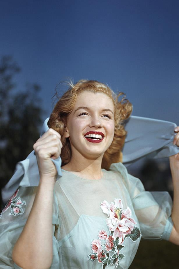 This image of a shining Marilyn Monroe, or Norma Jeane as she was known at this time, was taken in 1947, just after she was signed to 20th Century Fox.