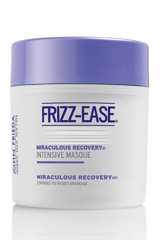 <p><strong>Frizz Ease Miraculous Recovery Intensive Masque, $16.99, John Frieda, 1800 468 318</strong><p/> <p>It's all about fighting the frizz as we head into a rainy winter and this masque delivers a hit of moisture to dehydrated summer hair<p/>