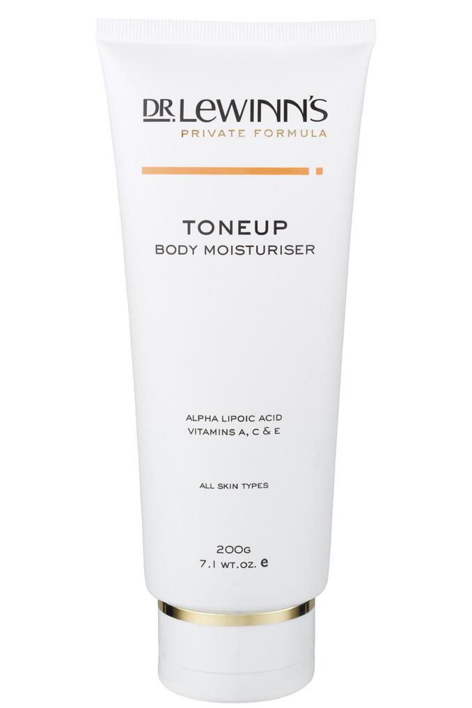 <p><strong>ToneUp Body Moisturiser, $29.95, Dr Lewinn's, 1800 630 056</strong><p/> <p>Slather on a moisturiser that will not just hydrate but tone up skin and reduce visible signs of ageing.</p>