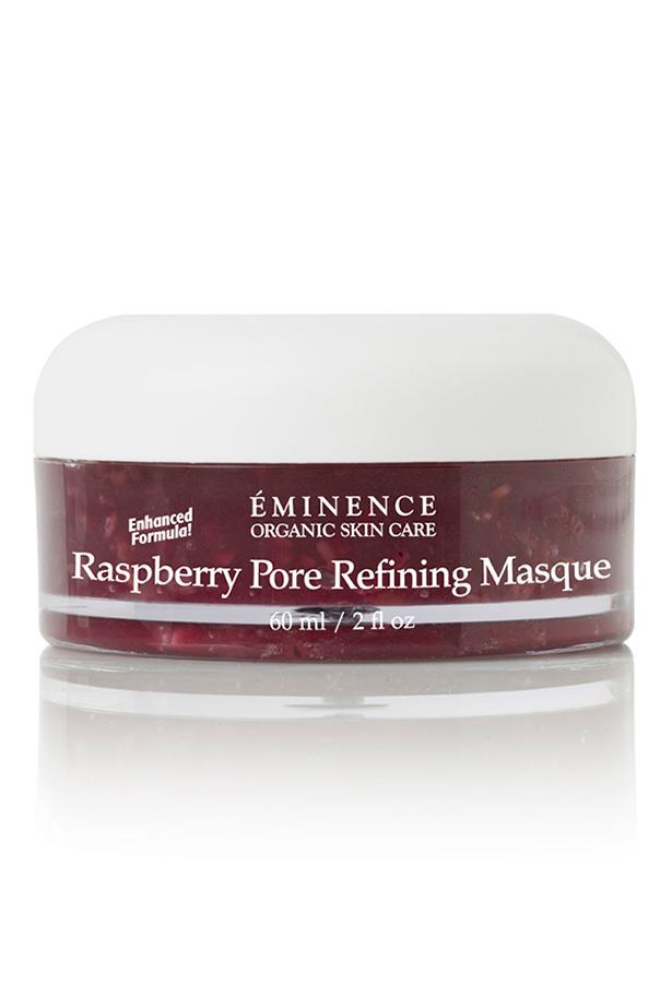 <p><strong>Raspberry Pore Refining Masque, $91, Eminence Organic Skin Care, 1800 142 182</strong></p> <p>Why not treat yourself to multiple masque treatments this weekend? This one tightens pores with the help of free radical fighting raspberries, blackberries and blueberries.<p/>