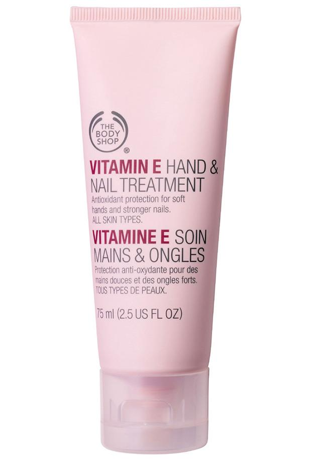 "<p><strong>Vitamin E Hand and Nail Treatment, $19.95, The Body Shop, <a href=""http://www.thebodyshop.com.au"">thebodyshop.com.au</a></strong><p/> <p>Soften and protect your hands for the week ahead with a treatment that improves nail flexibility, helping to reduce flaking and breakage.<p/>"