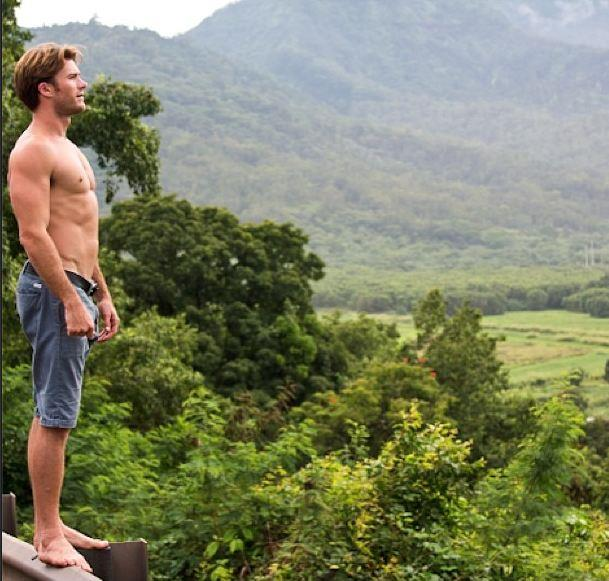 Scott Eastwood showing off his spiritual side on Instagram... again, shirtless. No complaints here.