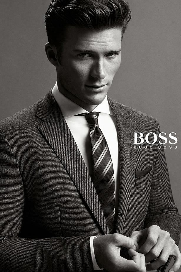 "Scott Eastwood, son of screen legend Clint Eastwood, suits up for Boss.""The idea of Boss menswear is keeping up tradition,"" said  Hugo Boss creative director Jason Wu of his debut collection for A/W14. ""Scott is all about channeling old Hollywood. I love how much he looks like his father, who is absolutely legendary..."""