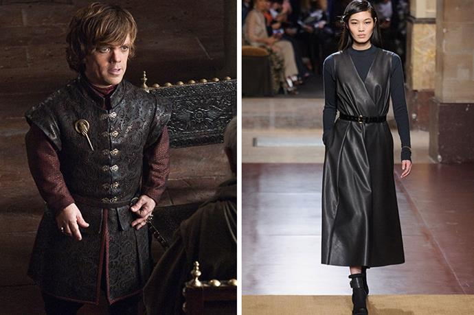 Tyrion Lannister <br><br> Everybody's favourite GOT character gives good leather. Valiant to the last, we'll be donning belted hides à la Hermès and cheering from the sidelines come the season 4 finale. (<em>Please </em>George RR Martin, we're begging you, leave us one character that you don't kill off!)
