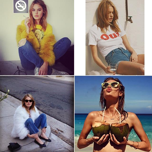 """<p><strong>Camille Rowe @fingermonkey</strong></p> <p>Rowe's Instagram handle had us at hello – who doesn't want to follow an account called Fingermonkey? The French beauty lives and breathes New York, has modelled for Victoria's Secret and Seafolly, and always leaves us thinking, """"Can't we just <em>be</em> you?""""</p>"""