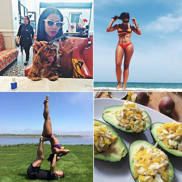 <p><strong>Hannah Bronfman @hannahbronfman</strong></p> <p>She's the ultimate slashie: a DJ, model, co-founder of a beauty app and <em>ELLE </em>guest blogger. Bronfman regularly posts videos of her workout sessions to Beyoncé and knows how to make a mean smoothie. </p>