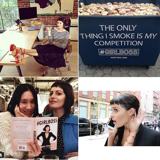 <p><strong>Sophia Amoruso @sophia_amoruso</strong></p> <p>She's the founder and CEO of Nasty Gal, a company now worth millions, and has just published her first book <em>#GIRLBOSS</em>. Amoruso's posts give you a glimpse of what it's like to be young, work hard and end up extremely successful. Girl crush. </p>