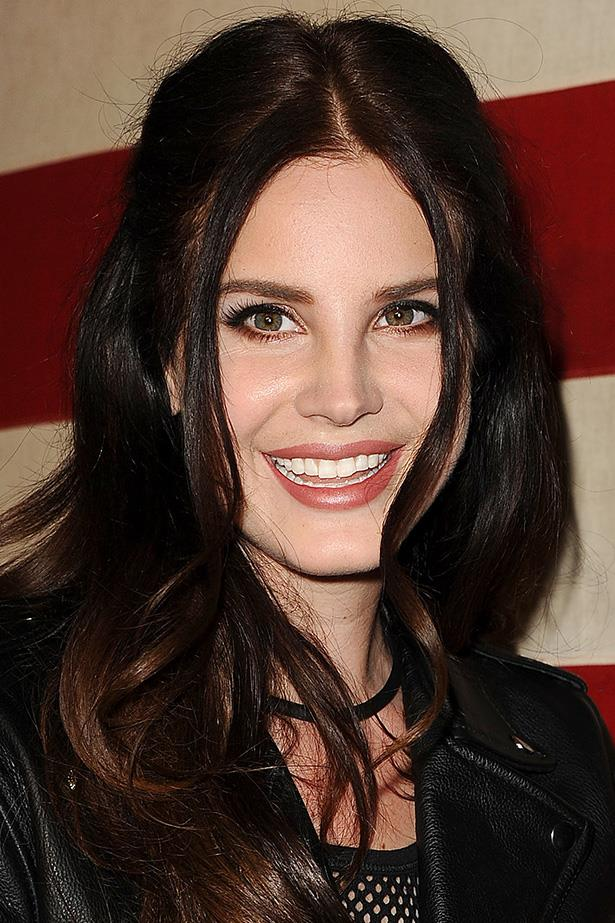 At an event in West Hollywood, Lana wears her dark tresses in textured waves.