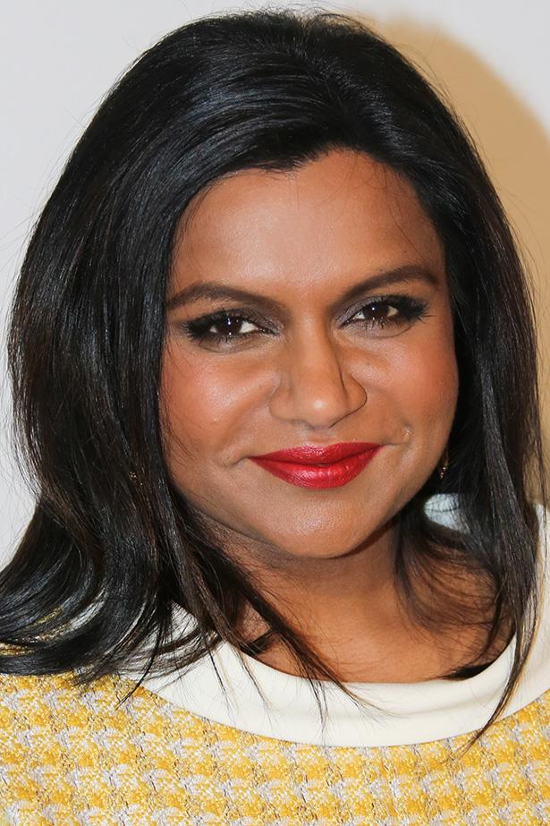 Kaling attends the Summer Comedy Panel with a dark smoky eye and a glossy red lip.