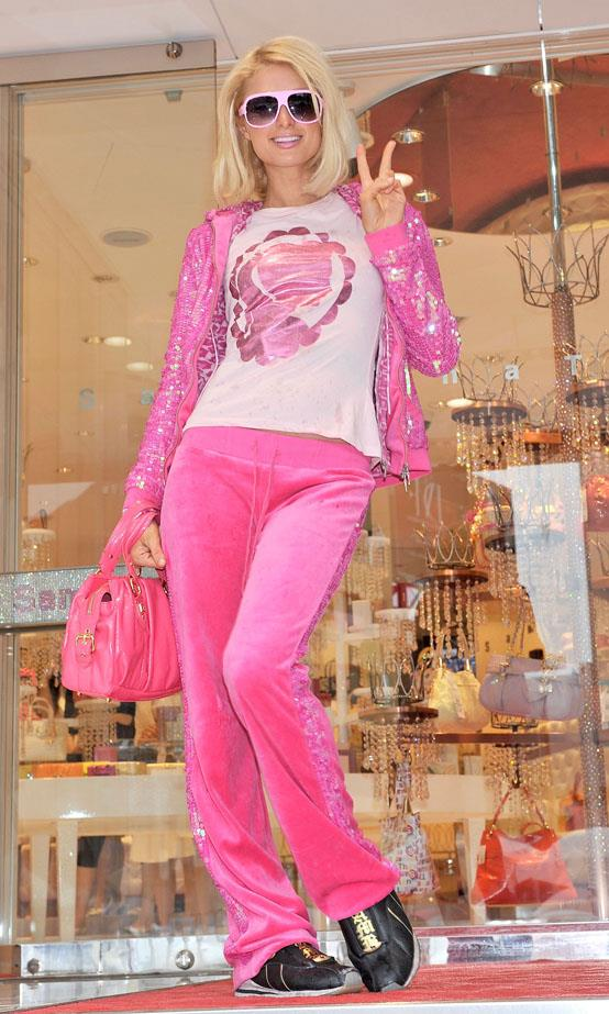 Paris: no doubt the number one customer for Juicy Couture and the celebrity credited with making the brand a household name in the 2000s.