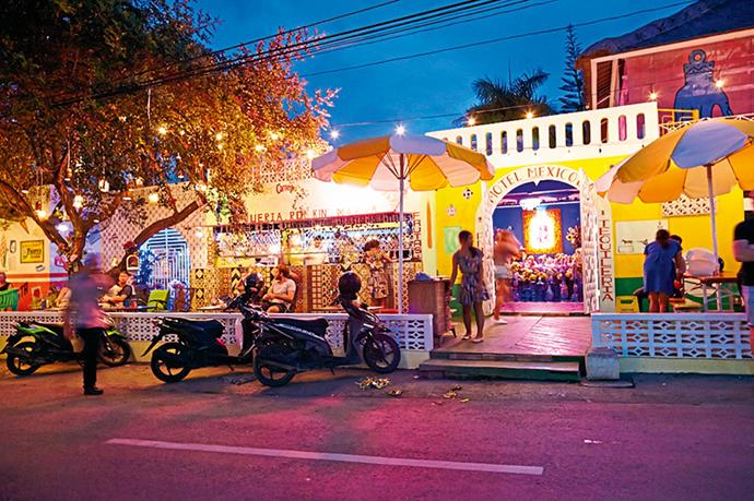 "<p><strong>Let loose</strong></p> <p>The taste of Australia</p> <p>""Motel Mexicola is a cool and quirky Mexican bar and restaurant not far from the well-known La Lucciola in Seminyak. Tasty morsels like tacos and ceviche are the perfect accompaniment to all the tequila and Latin music. It's a cute collaboration between the guys behind Bondi's The Bucket List and Avoca's Rojo Rocket, so it's got a real Aussie flavour.""</p> <p><a href=""http://www.motelmexicolabali.com"">motelmexicolabali.com</a></p>"