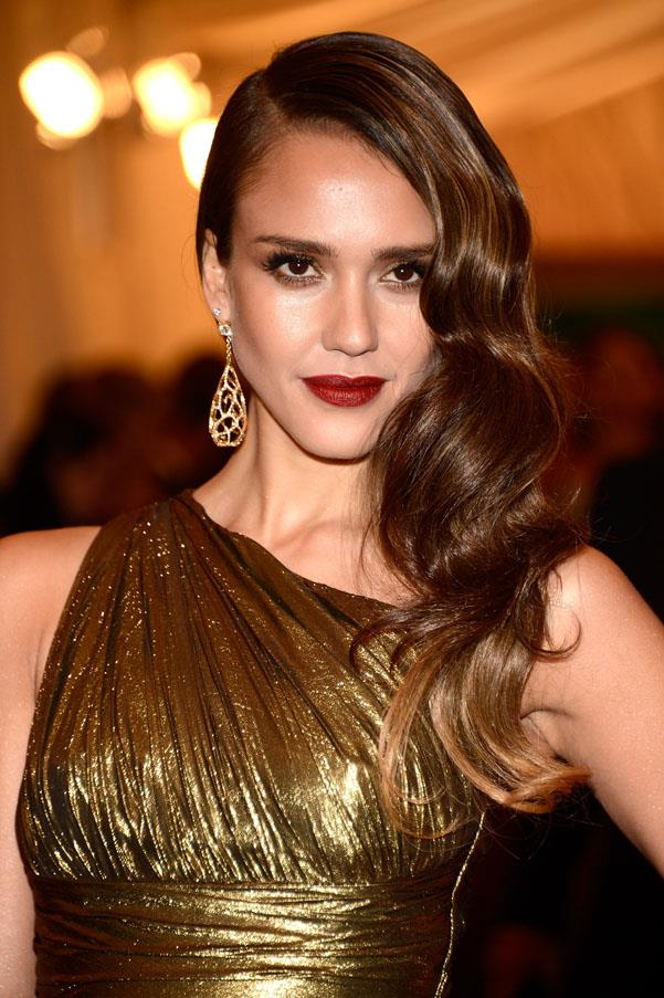 At the 2012 met ball, Jessica Alba's high-shine brunette mane was one our favourite beauty looks of the night.