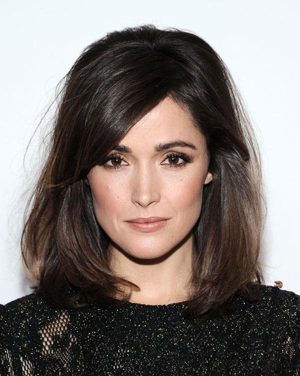 Rose Byrne kills it as a sexy, serious brunette.