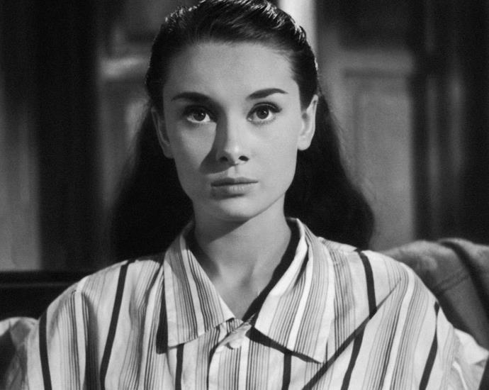 Audrey Hepburn in pajamas