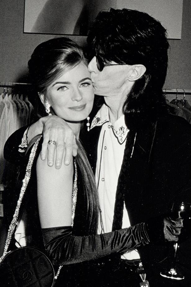 **Rick Ocasek and Paulina Porizkova**  <br><br> Ex-*Sports Illustrated* model Paulina Porizkova famously married The Cars frontman Ric Ocasek five years after they first met on the set of his music video 'Drive'. The relationship caused headlines at the time because Ocasek was still married at the time. Oh, and Porizkova was 16 years his junior.