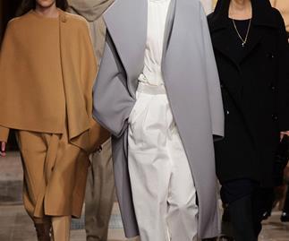 Models on the Hermes runway