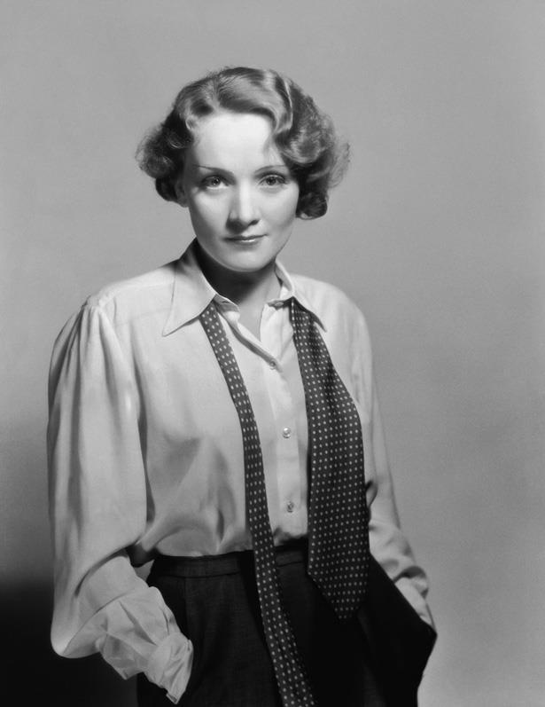 The original man-dressing muse, Marlene Dietrich.