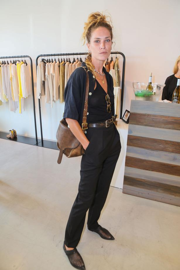 <em>ELLE</em> covergirl Erin Wasson's boyish style go-tos include cowboy boots, brogues, denim and loose shirting.