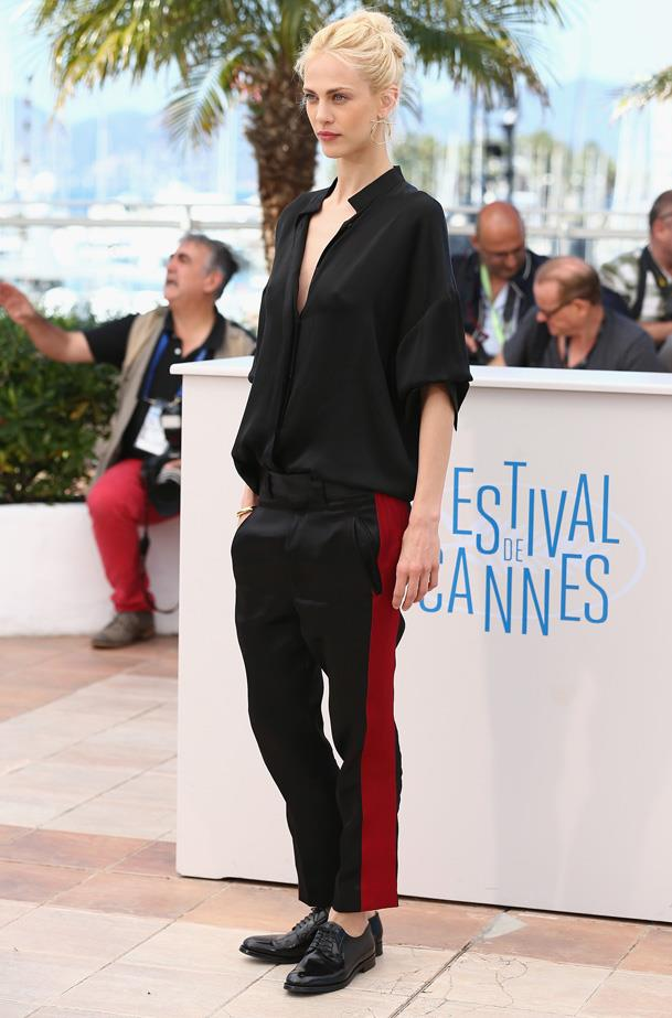 Model and star of the new YSL biopic, Saint Laurent, Aymeline Valade's red carpet style is original and oozing a unique kind of Paris-meets-Venice beach style. A+