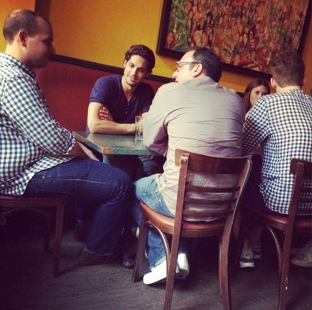 Forgot the gingham memo? Only men could get away with this...