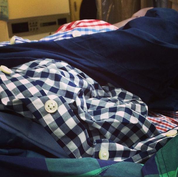 "@thatjcrewginghamshirt: ""#gingham #gingfam #nyc #fashion #laundry"""