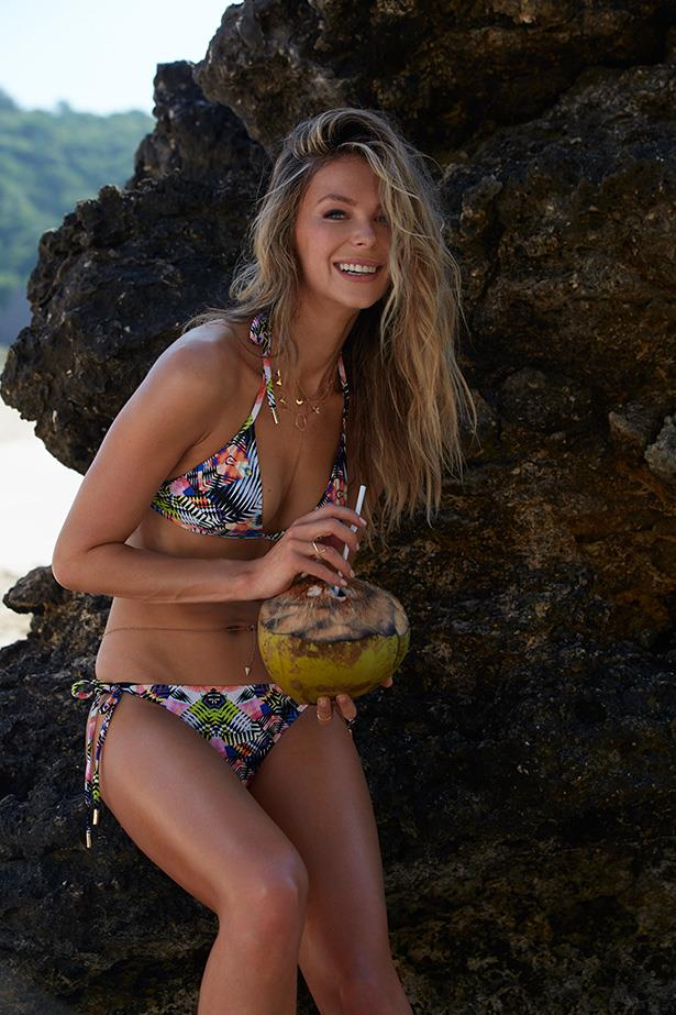 Jennifer Hawkins on location in Bali shooting her new Cozi campaign