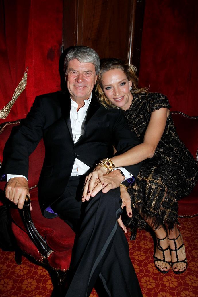 Yves Carcelle  and Uma Thurman