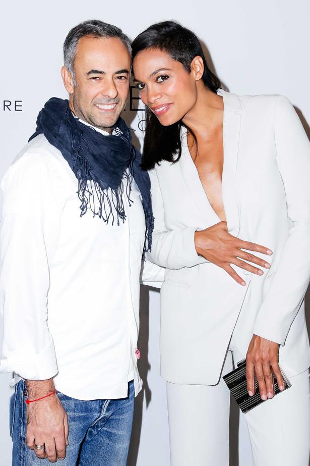 Calvin Klein creative director Francisco Costa and Rosario Dawson