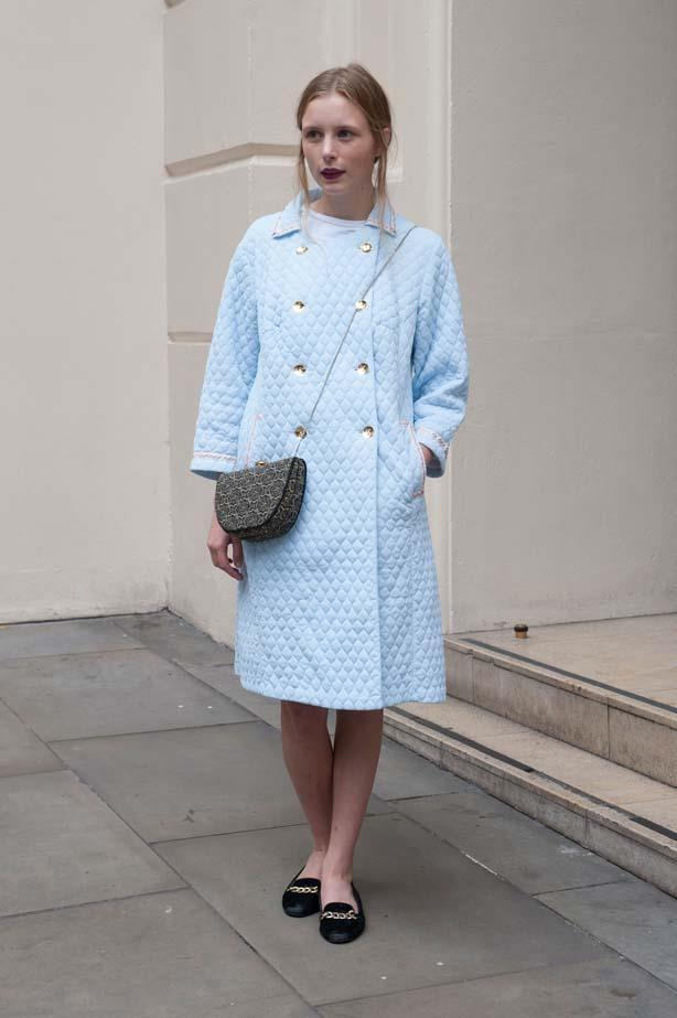 This Marie Antoinette-esque quilted coat would be perfect over a LBD.