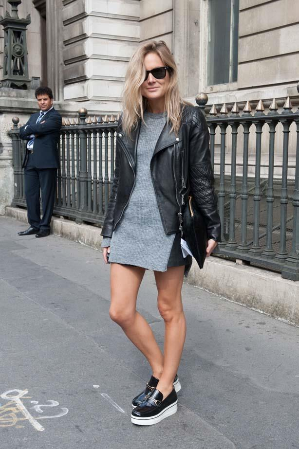 So. Very. Cool. You really cannot go wrong with leather and RayBan sunglasses.