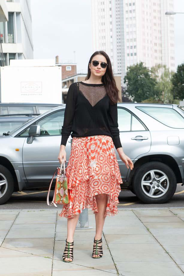 Mesh sweaters look great with anything, from layered skirts to black jeans.