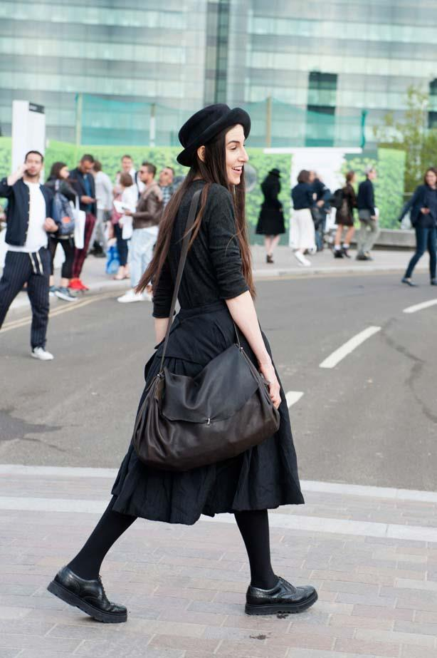 When in doubt... go head-to-toe black, a fashion week favourite.