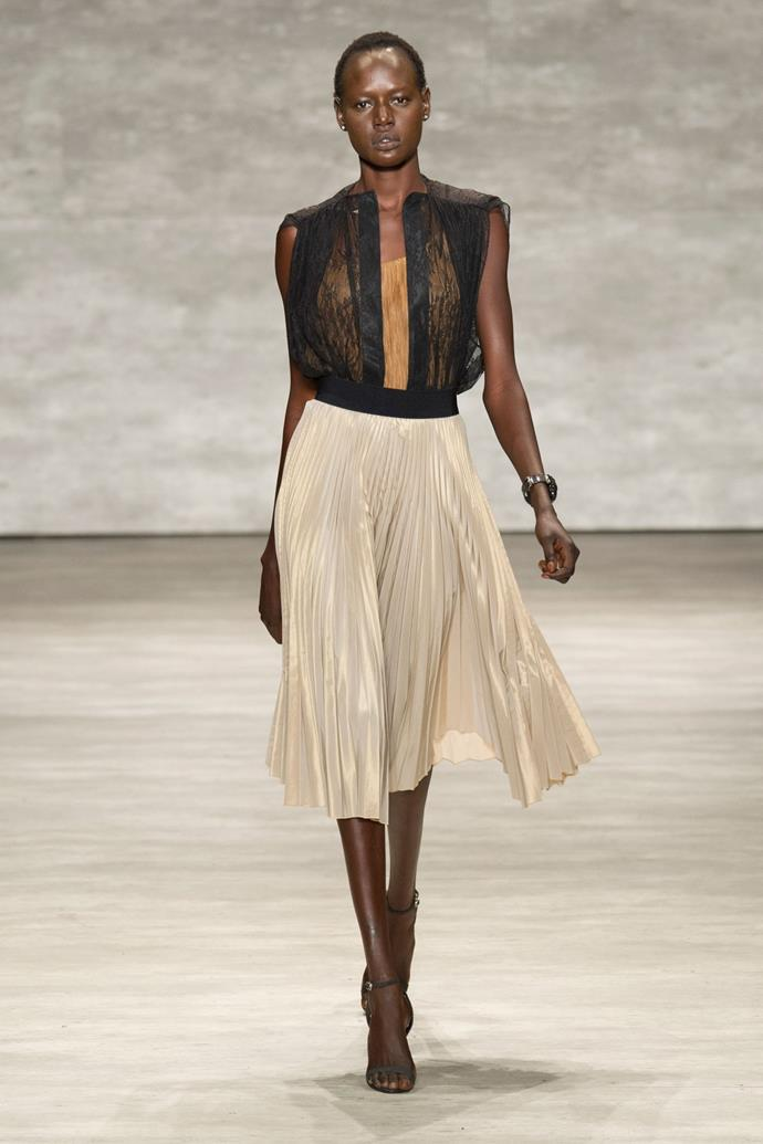 Ajak Deng in Tome SS15 runway show at New York Fashion Week