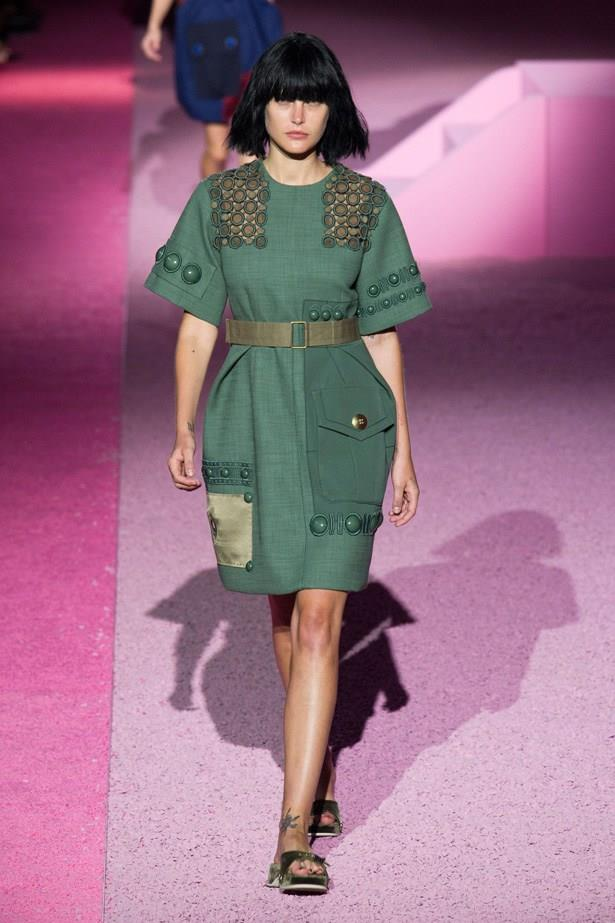 Catherine McNeil in Marc Jacobs SS15 runway show at New York Fashion Week