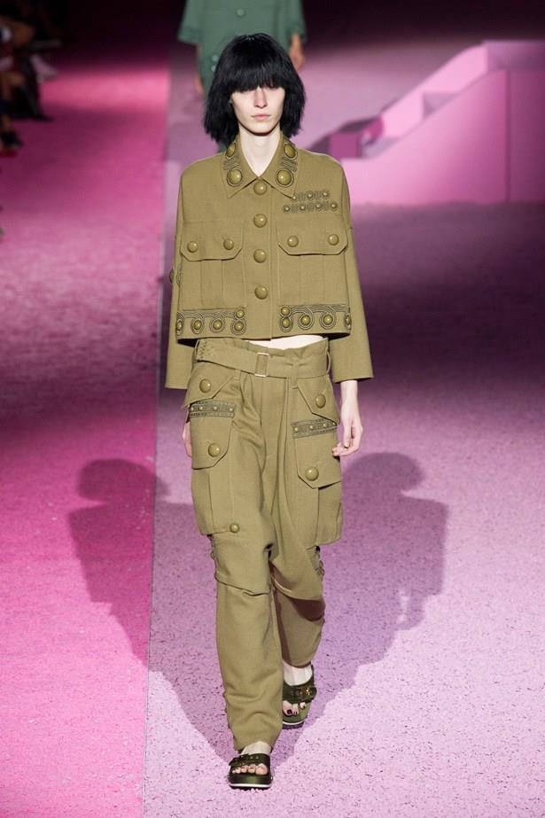 Julia Nobis in Marc Jacobs SS15 runway show at New York Fashion Week