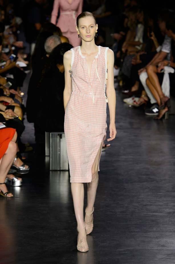 Julia Nobis in Altuzarra SS15 runway show at New York Fashion Week
